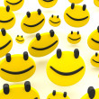 Group of smileys — Stock Photo