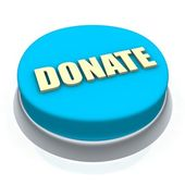 Donate round button 3d — Stock Photo