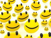 Group of smileys — Stock Photo