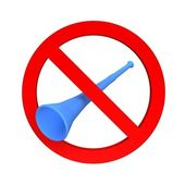 Ban vuvuzela sign — Stock Photo