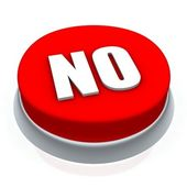 NO round button 3d — Stock Photo