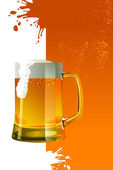 Beer mug with froth — Stock Vector