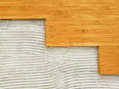 Bambusové podlahy — Stock fotografie