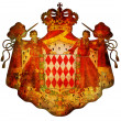 National emblem of monaco — Stockfoto
