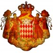 Foto de Stock  : National emblem of monaco