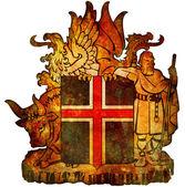 Wappen von island — Stockfoto