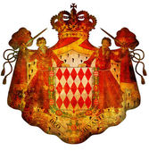 National emblem of monaco — Stock Photo
