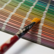 Stock Photo: Color chart with brush