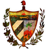 Cuba coat of arms — Stock Photo
