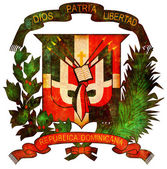 Dominican republic coat of arms — Stock Photo