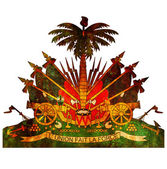 Haiti coat of arms — Foto Stock