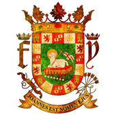 Puerto rico coat of arms — Foto Stock