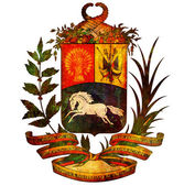 Venezuela coat of arms — Stock Photo
