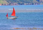 Red sailing boat — Stock Photo