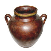 Greek style Ceramic Wall urn — Stock Photo