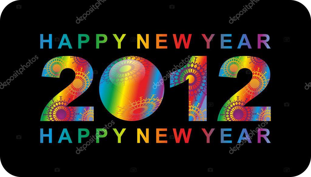 happy new year 2012 stock vector 169 lisa156 7378330