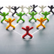 Organizational corporate, hierarchy chart of a company - Stock Photo