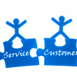 Right service to customer. - Stock Photo