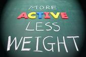 More active less weight — Stock Photo