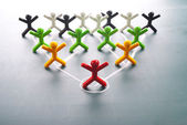 Organizational corporate, hierarchy chart of a company — Stock Photo