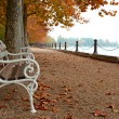 Stock Photo: Promenade at Lake Balaton in autumn, Hungary