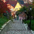 Stone steps in Veszpém,Hungary — Stock Photo