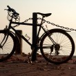 Stock Photo: Bicycle on pier at Lake Balaton,Hungary