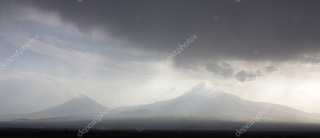 Panorama of Mountain Ararat,Armenia. — Stock Photo #6936616