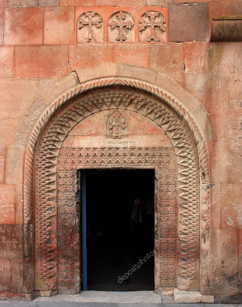 Door at Khor Virap monastery, Armenia. — Stock Photo #6938075