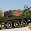 Tank - monument in  Yerevan. — Stock Photo