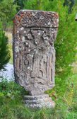 Khachkar in monastery, Armenia — Stock Photo