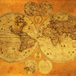 Old paper world map. — 图库照片 #7469807