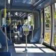 Interior of tram in Jerusalem, Israel — Stock Photo