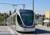 Modern tram in Jerusalem, Israel — Stock Photo