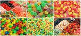 Collage de caramelos — Foto de Stock
