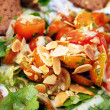 Close up of fresh colorfull vegetable salad — Stock Photo