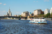 White river cruise boat on Moscow river — Stock Photo