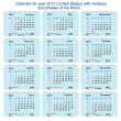 Royalty-Free Stock Vektorgrafik: Vector Calendar of 2012 with phases of the Moon, numbering of weeks and hol