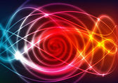 Abstract illustration with neon light curves — Stock Photo