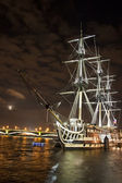 Old ship on the Neva river — Stock Photo