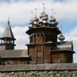 Old wooden church on Kizhi island — Stock fotografie