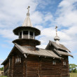 old wooden church on kizhi island — Stock Photo