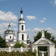 Bell tower of women monastery in Maloyaroslavets — Stock fotografie