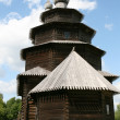 Stock Photo: Old wooden church in Vitoslavlitsy