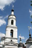 Bell tower of women monastery in Maloyaroslavets — Stock Photo