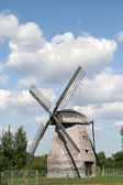 Old wooden windmill — Stock Photo