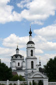 Bell tower of women monastery in Maloyaroslavets — Stock Photo