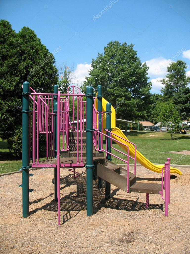 Playground in a park — Stock Photo #6985220