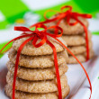Gingerbread cookies on white plate - Stock Photo