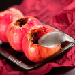 Baked red apples - Stock Photo